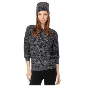 ARITZIA TNA Grouse Knit Marled Sweater Cashmere